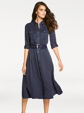 Linea Tesini Hemdblusenkleid - blau