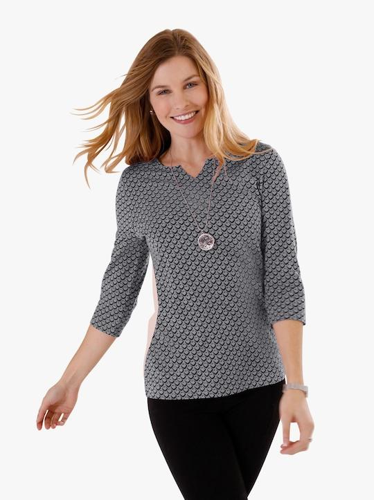 Tričko - kamenná šedá-vzor