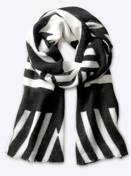 heine Sjaal - zwart/wit