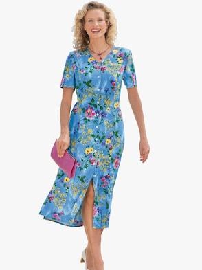 Kleid - blau-bedruckt