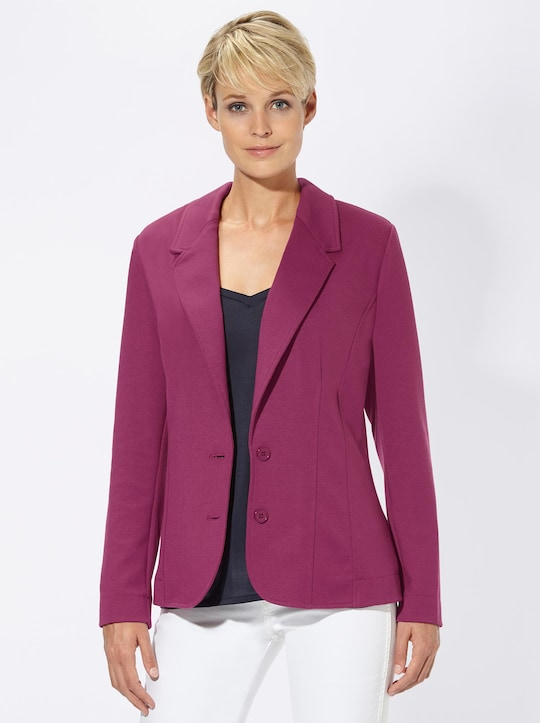 Collection L Jersey-Blazer - fuchsia