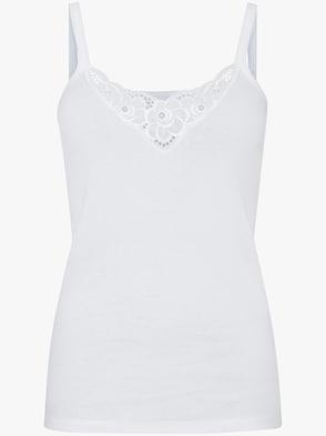 Trägerhemd - weiß