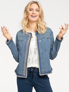 Linea Tesini Jeans-Jacke - blue stone