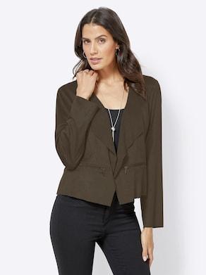Blusenblazer - khaki