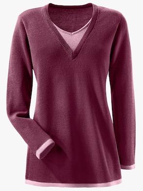 Pullover - bordeaux-rosé