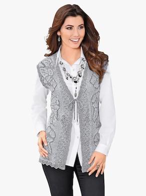 Pletená vesta - sivá