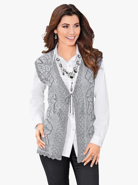 Pletená vesta - šedá