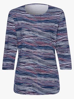 Shirt - marine-rot-gemustert