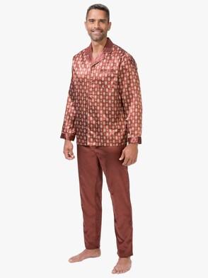 Pyjama - kaneel geprint