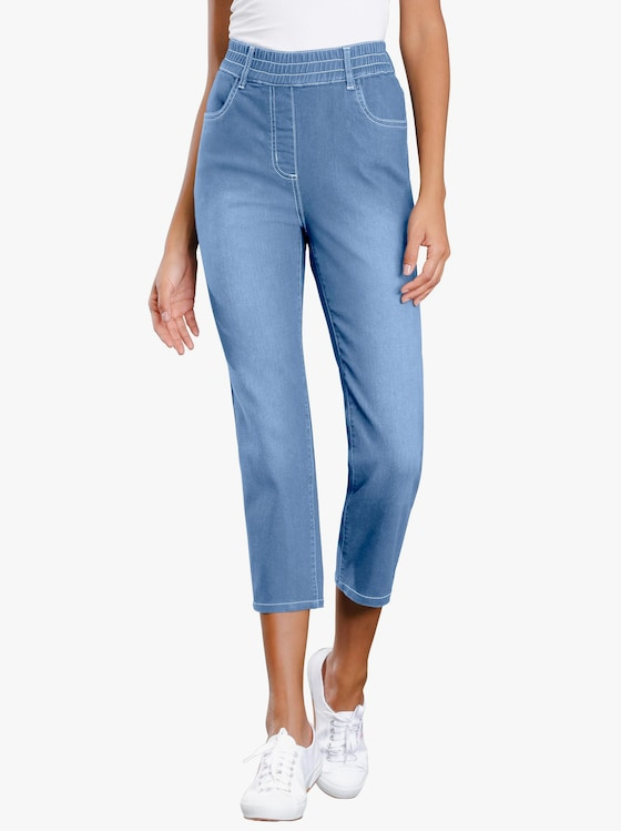 3/4-Jeans - blue-bleached