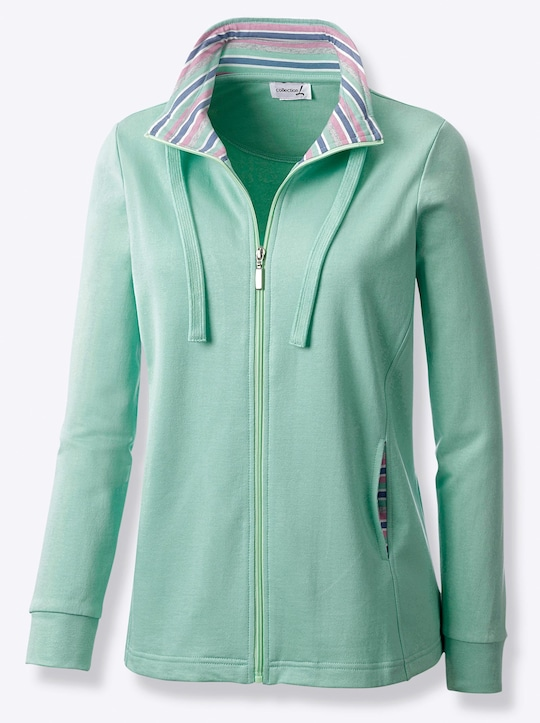 Collection L Shirtjacke - mint-meliert