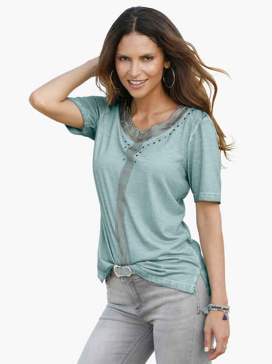 Shirt - jadegrün