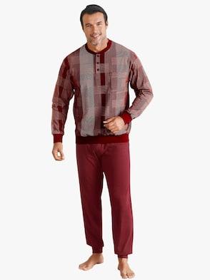 Schlafanzug - weinrot