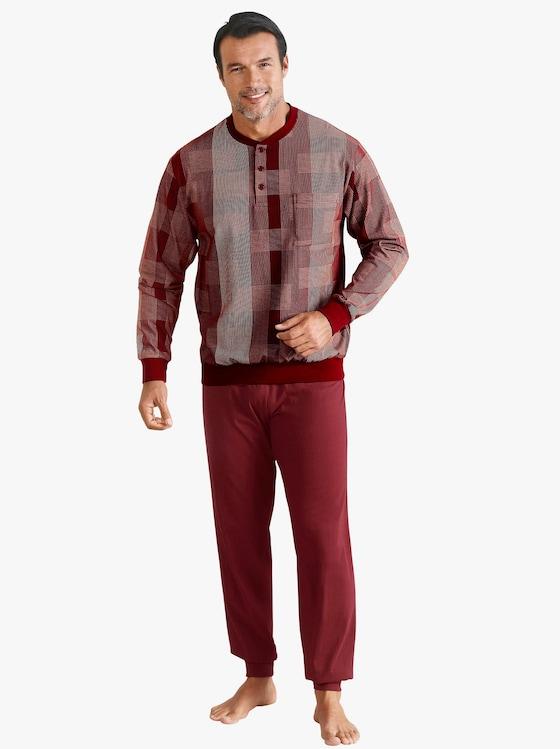 Normann Schlafanzug - weinrot