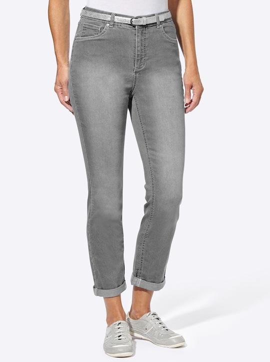 7/8-Hose - grey denim