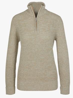 Pullover - taupe gemêleerd