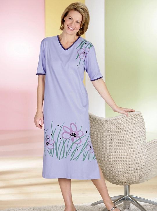 Top Ten Nachthemd - flieder-bedruckt