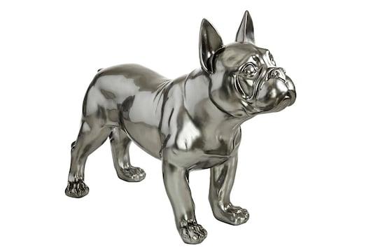 heine home Deko-Hund Bulldogg - silbergrau