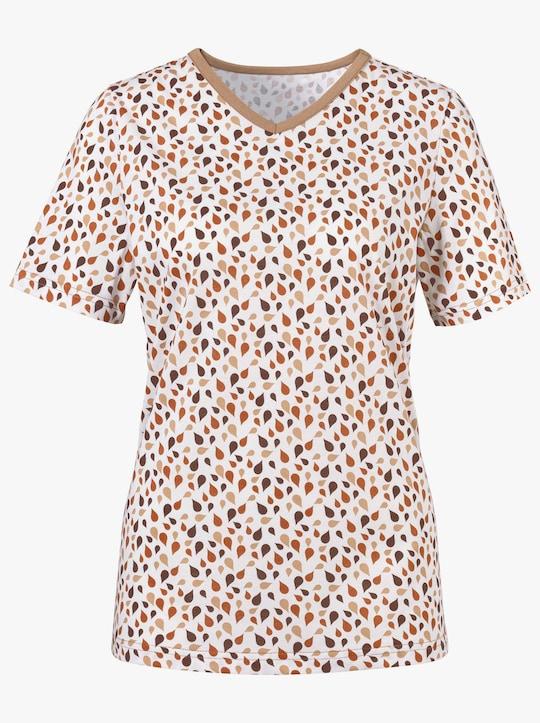 Shirt - choco geprint