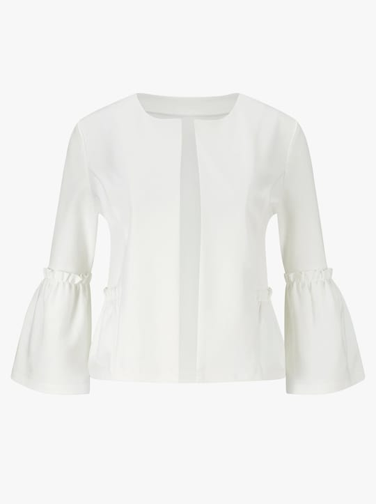 Shirtjacke - wollweiß