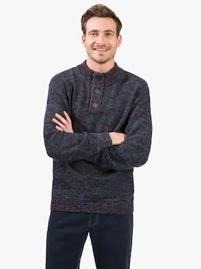 Pullover - beere-blau-gemustert