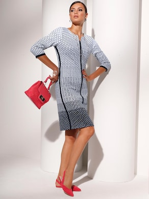 Jersey-Kleid - schwarz-weiß