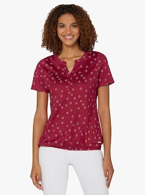 Collection L Shirt - kers/wit bedrukt