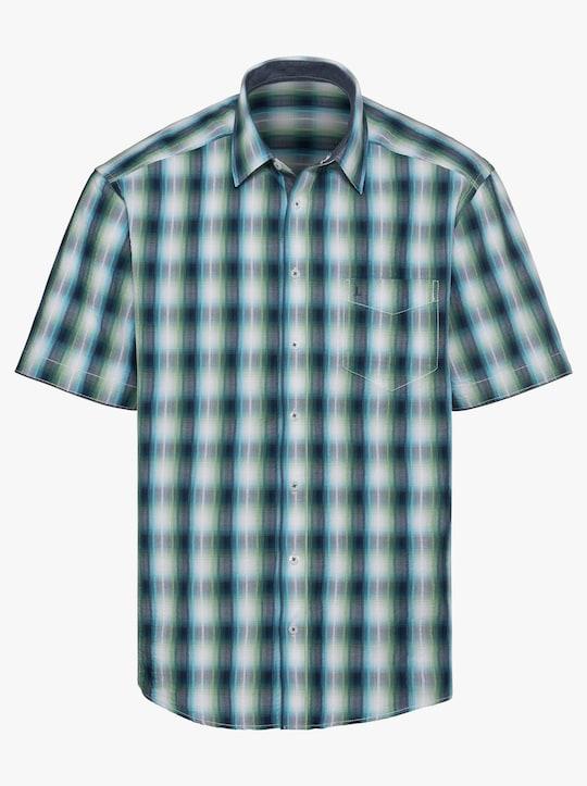 Hemd met korte mouwen - marine/groen geruit