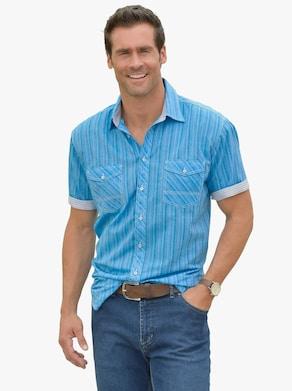 Marco Donati Košile s krátkým rukávem - tyrkysová