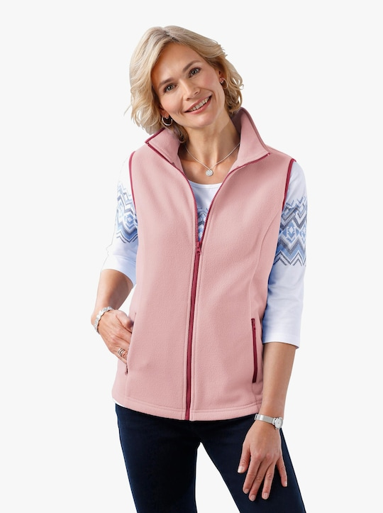 Fleecová vesta - růžová