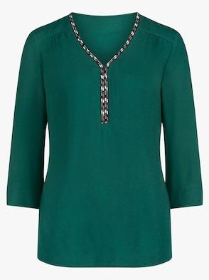 Bluse - dunkelgrün