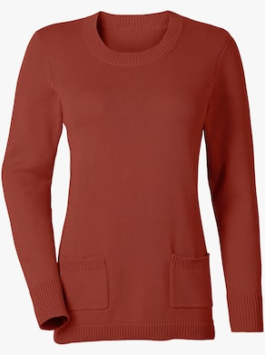 Collection L Pullover - rostrot