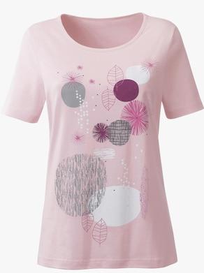 Shirt - hellrosé-bedruckt