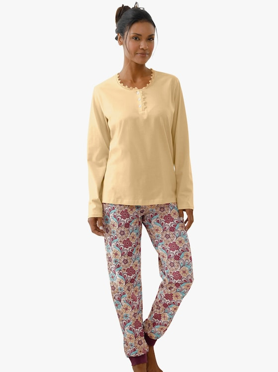 Schlafanzug-Hose - geblümt