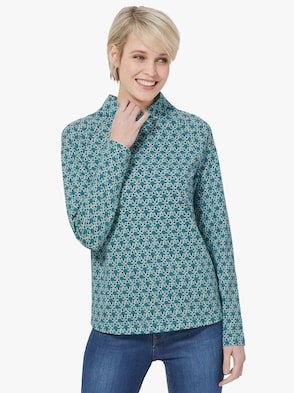 Shirt - winterturquoise gedessineerd