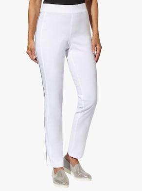 Stehmann Comfort line Pohodlné kalhoty - bílá-námořnická modrá