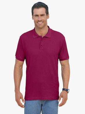 Poloshirt - weinrot