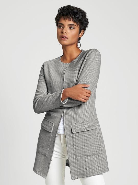 Jersey-Blazer - grau