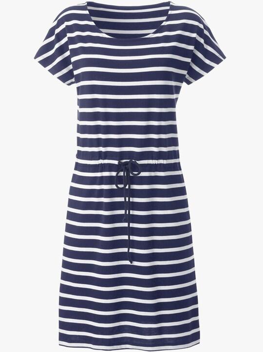 Collection L Jersey-Kleid - marine-weiß-gestreift