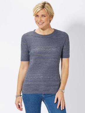 Pullover - taubenblau