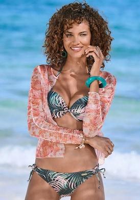 LASCANA Push-Up-Bikini-Top - schwarz-bedruckt