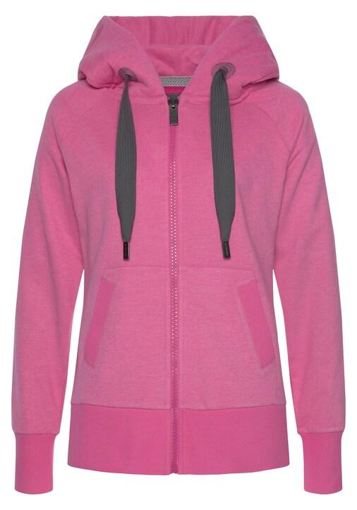 Elbsand Sweatjacke - pink-meliert