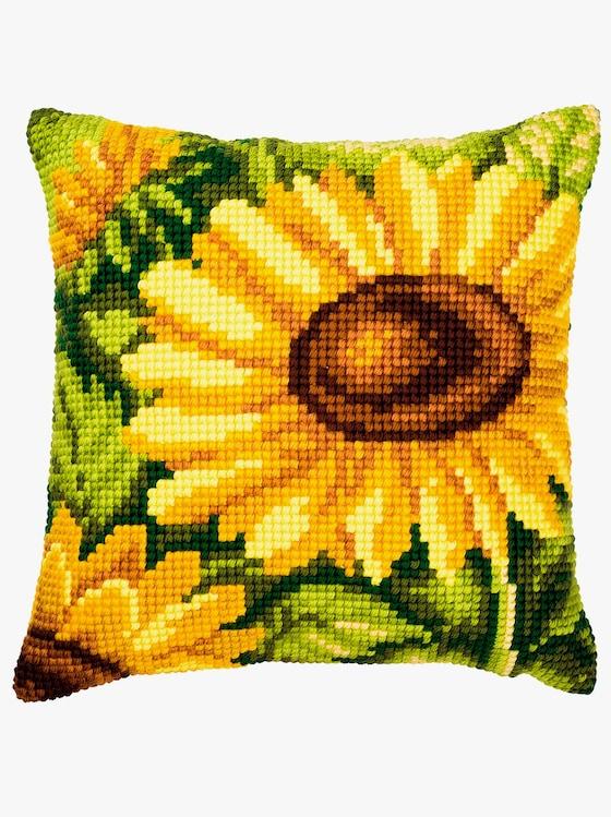 Stickkissen - Sonnenblumen