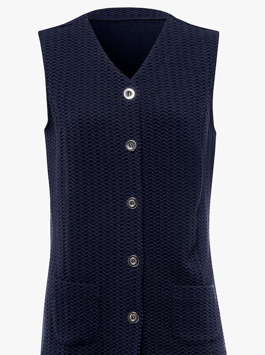 Úpletová vesta - námornícka modrá