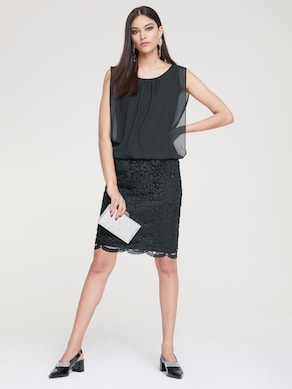 Patrizia Dini Spitzen-Kleid - schwarz