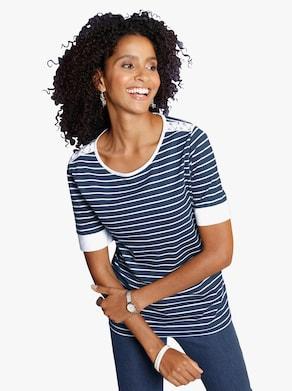 Tričko - námořnická modrá-proužek