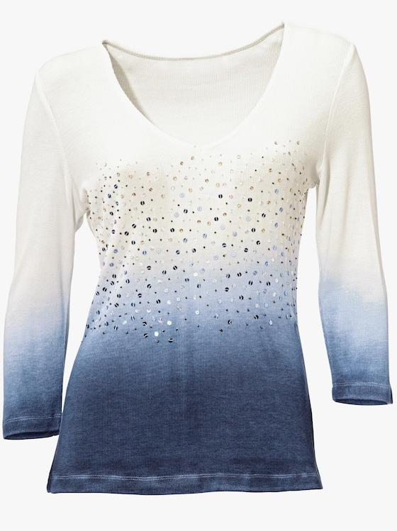Shirt - marine-weiß