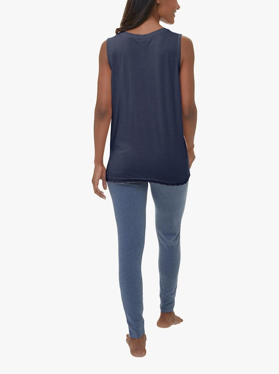 Schlafanzug-Shirt - marine