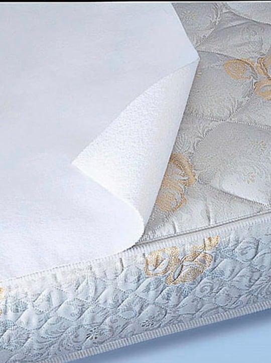 Wasserdichte Inkontinenz-Bettauflage - weiß