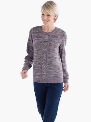 Pullover - koraal gemêleerd